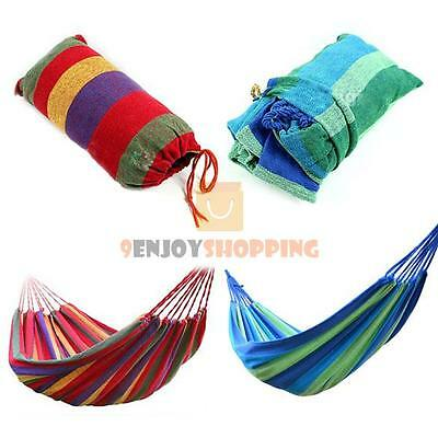 Portable Parachute Nylon Fabric Swing Hanging Hammock Outdoor Camping Travel