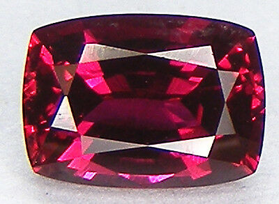 EXCELLENT CUT CUSHION 7x5 MM. PIGEON BLOOD RED RUBY LAB CORUNDUM