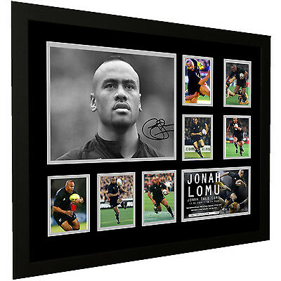 Jonah Lomu All Blacks Signed Limited Edition Framed Memorabilia