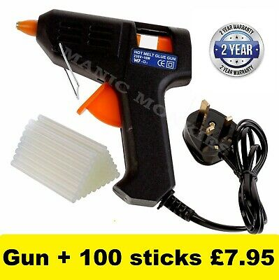Glue Gun Hot Melt Electric Trigger DIY Adhesive Crafts 100 FREE GLUE STICKS
