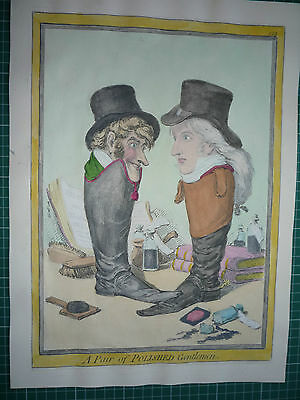 "Gillray. "" A Pair Of Polished Gentlemen."""