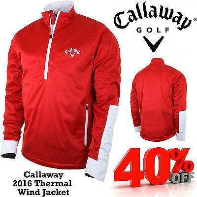 Callaway Golf Wind Shirt Callaway Thermal Golf Top 1/4 Zip Lined Pullover New