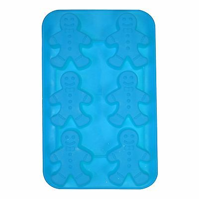 Large Christmas Silicone Chocolate Ice Tray Soap Candle Moulds - 6 Gingerbread
