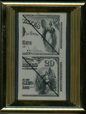 1875 $20 United States Note & National Currency Laban Heath's Proof