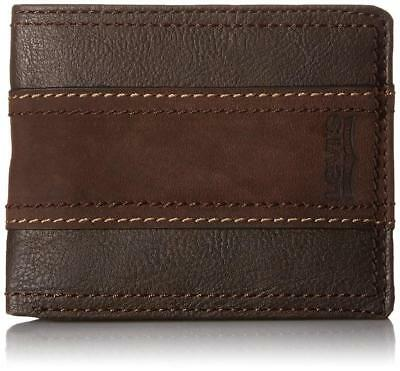 Levi's Classic Leather Bifold Id Credit Card  Passcase Wallet 31lv2414 Brown