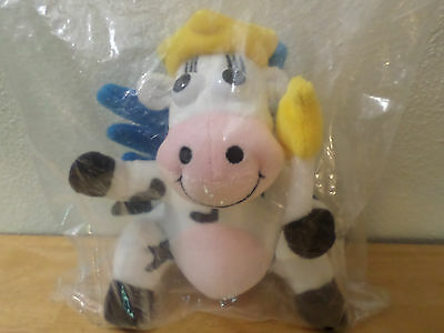 """Kraft Singles Dairy Fairy Plush Cow Beanbag Lovey Toy Collectible 6"""" Wings Wand"""