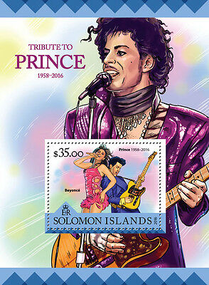 Solomon Islands 2016 MNH Tribute to Prince 4v M/S Beyonce Celebrities Stamps