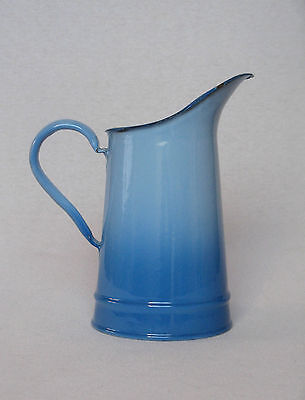 Petite VINTAGE FRENCH ENAMELWARE WATER PITCHER, almost pristine