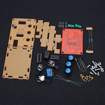 XR2206 Function Signal Generator DIY Kit Square Sine Triangle Output +Case