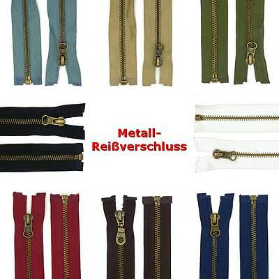 30 - 90 cm Metal Zip 5 mm Zipper divisible For Jackets Jeans Leather etc