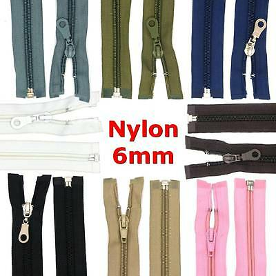 40 - 85 cm Zip Nylon Nylon spiral 6 mm divisible For Jackets Bags