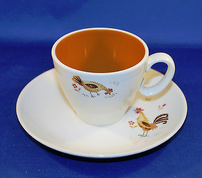 Taylor Smith ROOSTER & CHICKEN BREAK 'O DAY Cup & Saucer Bowl Cup Ever Yours