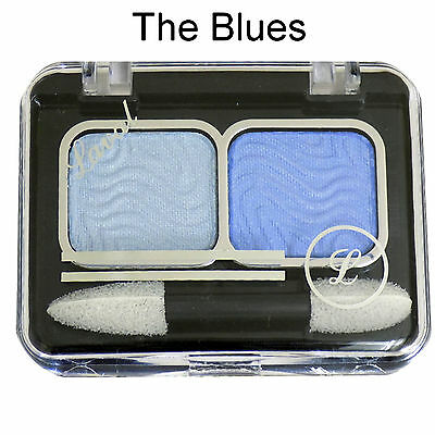 Laval Mixed Doubles Duo Eyeshadow Eye Shadow Palette ~ The Blues