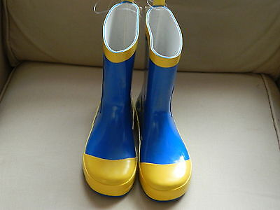 Minions Wellington Boots Blue/yellow Size 11.5 New With Tags