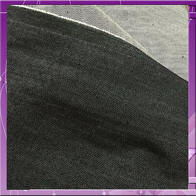 50 in w one way stretch Ironside grey color Denim Fabric by the yard