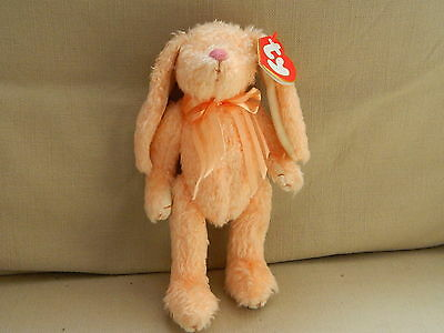 Ty The Attic Treasures Collection Bluebeary Peach Rabbit Soft Toy New With Tags