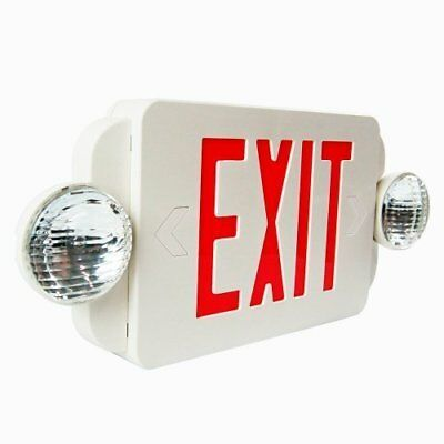 eTopLighting Red LED Exit Sign Emergency Light Combo with Battery Back-Up New
