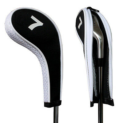 12pcs Golf Iron Long Neck Headcovers Head Cover Golf Club Protect