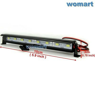 1/10 RC Aluminum LED Light Bar 6~7.4V JR Plug 8 lights For Rock Crawler Truck