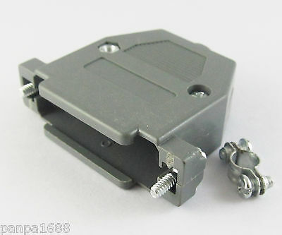 4sets D-Sub DB25 25Pin Plastic Hood Cover for 25 Pin 2 Row D-Sub Connector Grey