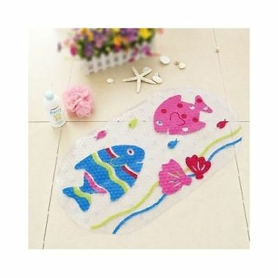 Anti Slip Kids PVC Bathmat Shower Mat Bathroom Carpet Water Drains Non Slip