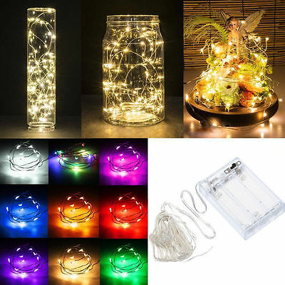 Colorful 2M String Fairy Light 20 LED Battery Operated Xmas Lights Party Wedding