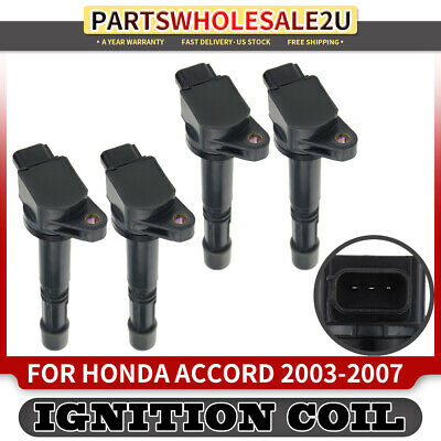 4 Ignition Coil for Honda Accord 2003 2004 05-07 Civic CR-V Element RSX 2.0 2.4L