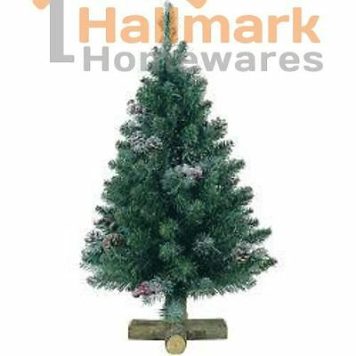 Kaemingk Sherwood Frosted Christmas Mini Tree With Stand - 75cm - Green/Frosted