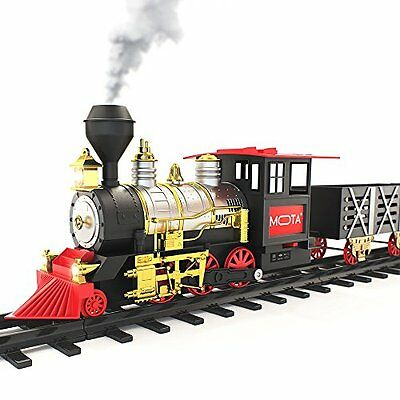 MOTA Classic Holiday Train Set with Real Smoke - Authentic Lights, and Sounds –