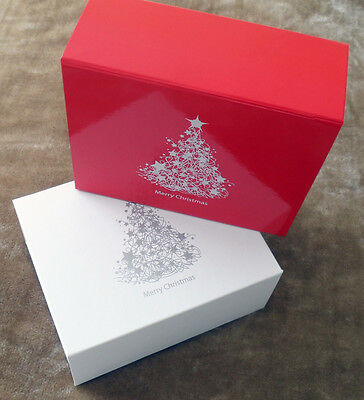 Christmas Gift Box in White Or Red