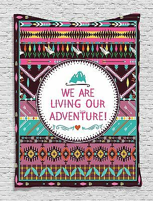 Adventure Quote Artwork Tapestry Wall Hanging for Living Room Bedroom Dorm Decor