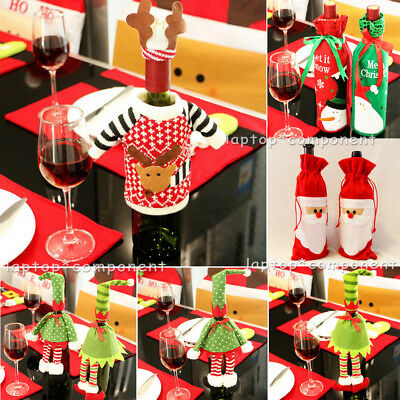 Christmas Socks Tableware Ornaments Snowman Holiday Party Home Decor Santa Xmas