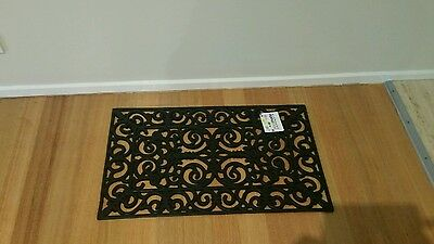 Brand new door mat.  Rubber. Home. French provincial