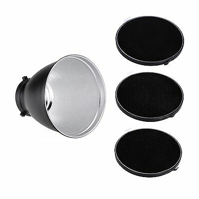 Studio Flash Reflector Diffuser Kit with Honeycomb Grid for Bowens Mount