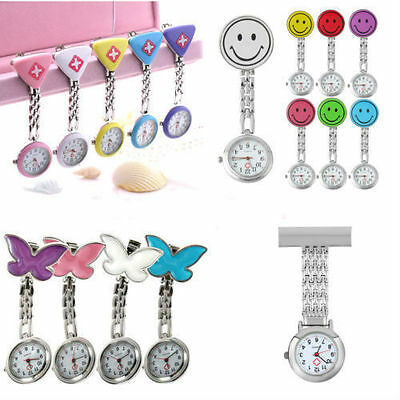 New Cute Pendant Butterfly Nurse Clip-on Brooch Quartz Hanging Pocket Watch BY