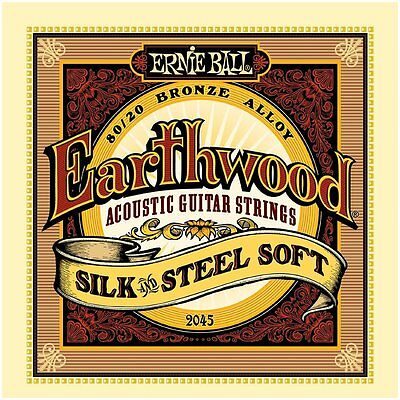 Ernie Ball 2045 80/20 Bronze Silk & Steel Acoustic Guitar Strings Soft - 11-52