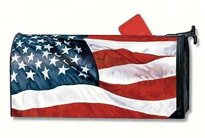 STARS and STRIPES Magnetic Mailbox Wrap Cover, Model: MAIL7650, Made in USA