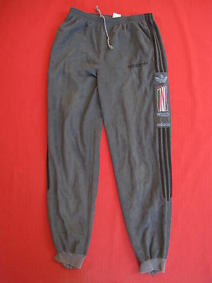 Pantalon survetement Adidas One World Gris et Noir Vintage 80'S retro - 168 / S