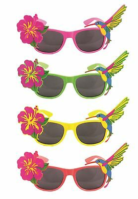Hawaiian Tropical Floral Novelty Sunglasses Fancy Dress Party Glasses Accessory
