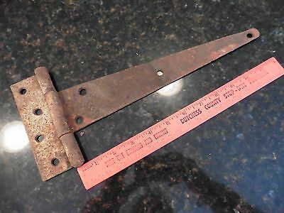 Antique Cast Iron Door Barn Hinge Hardware strap Rusty patina Vintage salvage