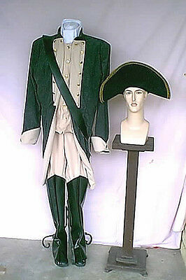 Theatrical Quality 1770s -1820s Distressed Black and Tan Military Style Costume