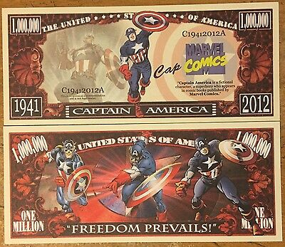 Captain America Million Dollar Bill ( Marvel Comics )