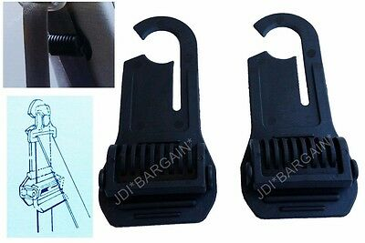 2 x Car Seat Belt Stopper Clips Adjustable Lock Travel Clip Safety Trip Set Pair