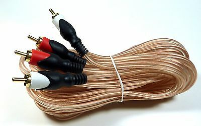 25-ft Fully Shielded Audio Cable with Dual Gold Plated Male RCA Plugs Subwoofer