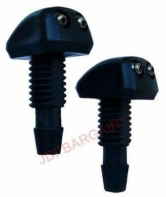 2 x Universal Car Windscreen Washer Wiper Nozzle Spray Jet DIY Front Window Pair