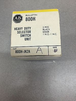 New In Box Allen Bradley Selector Switch 800H-Jk2A