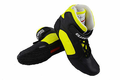 Rjs Racing Sfi 3.3/5 New 2016 Elite Driving Shoes Leather Mid Top Yellow Size 10