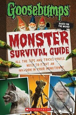 Goosebumps The Movie: Monster Survival Guide New Paperback Book Susan Lurie