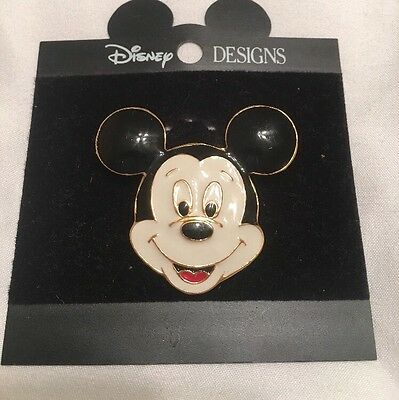 DISNEY DESIGNS Large MICKEY MOUSE  ENAMELED Brooch Style PIN