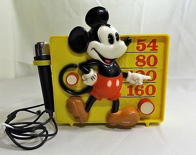 Vintage Mickey Mouse AM Radio with Microphone, Sing Along or By Self, Works